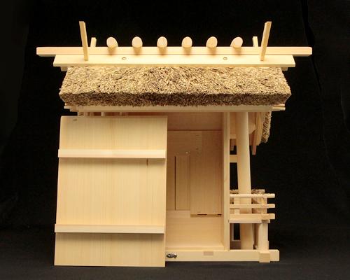 神棚 茅葺一社宮 正殿型(小・低屋根)〈K-9'〉