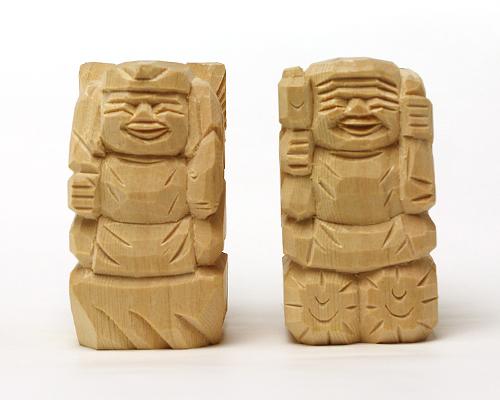 えびす様・大黒様 二福神像(並彫3寸)